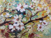 Georgia Dogwood Blossoms Oil Painting