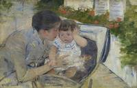 MARY CASSATT, 1844 - 1926, SUSAN COMFORTING THE BA