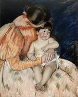 MARY CASSATT, 1844 - 1926, MOTHER AND CHILD, 1890S