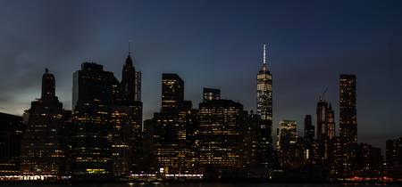 Lower Manhattan as Seen at Night