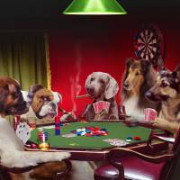 Poker-Dogs Art Prints & Posters by john lund