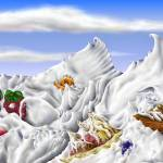 """Whipped Cream Mountains"" by stephenthedigitalartist"