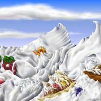 Whipped Cream Mountains Art Prints & Posters by Stephen Lo Piano