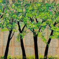 Trees in a Row Art Prints & Posters by Blenda Tyvoll