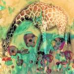 """Giraffe In the Poppies"" by LJdesigns"