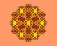 Brown Hexagonal Mandala