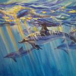 """""""Dolphins In the Sun"""" by foxbrush"""