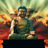 Buddha Sunrise Art Prints & Posters by Anthony Michael Poynton