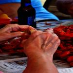 """02152015B Pealing Mud Bugs Cross Hatch Strokes"" by garlandoldham"