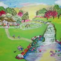 duckpondhouse Art Prints & Posters by Melody Van Overbeek