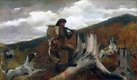 Winslow Homer - A Huntsman and Dogs