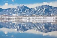 Boulder Reservoir Flatirons Reflections Boulder Co