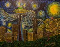Dedication to Van Gogh: Seattle Starry Night