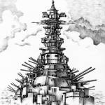 """Battleship that was revived"" by t-koni"