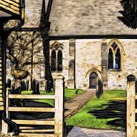 Wadhurst church Art Prints & Posters by Paul Stevens