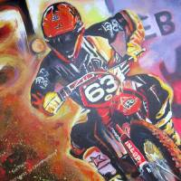 Chris Blose #63 Supercross Art Prints & Posters by Linda Dixon