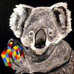 """KOALA BEAR WITH A RUBIK'S CUBE"" by Polylerus"