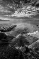 Lake Tahoe - river flow (B/W)