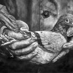 """A Bird In Hand"" by MightyFineArt"