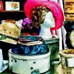 """Vintage Pink Hat"" by susansartgallery"