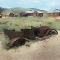 Bodie Car (Painting) Art Prints & Posters by D. Brent Walton