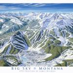 """Big Sky 1995 Trail Map Art Print"" by jamesniehuesmaps"