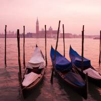 Venetian sunset Art Prints & Posters by Ian Middleton