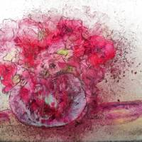Pink Flowers Art Prints & Posters by Claire Bull