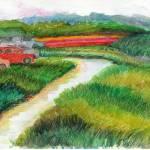 """""""Landscape with Cars"""" by KayArtiste"""