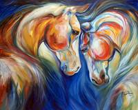 HEART TWINS EQUINE copyright M Baldwin 2014