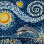 """Starry Night Dolphin"" by waynecantrell"
