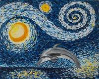 Starry Night Dolphin