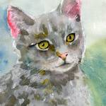 """Gray Cat Art 