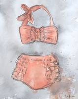 Itty Bitty Teeny Weeny Pink and Ruffled Bikini