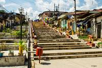 Iquitos - Looking up the Staircase from the Amazon