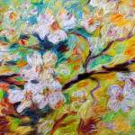 """Dogwood Blossoms Modern Decorative Art"" by GinetteCallaway"