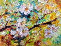 Dogwood Blossoms Modern Decorative Art