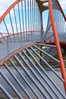 Red Steel Bridge Span