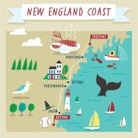 New England Roadtrip by Nate Padavick Art Prints & Posters by They Draw & Cook & Travel