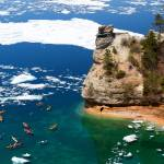 """Kayaks and Ice Floes at Miners Castle - Pictured R"" by sterk"