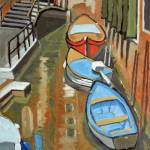 """Boats In A Venetian Canal"" by Holewinski"
