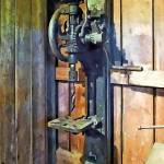 """Drill Press in Shop"" by susansartgallery"