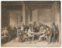 LOUIS-LÉOPOLD BOILLY 1761 -A CABARET IN PARIS IN 1