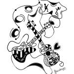 """Zentangle Inspired Guitars"" by txdave21"