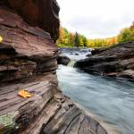 """Bonanza Falls in Autumn - Michigan"" by sterk"