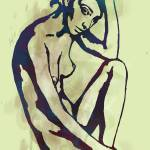 """Etching style nude pop art  poster"" by visualharbour"