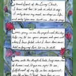 """Doodlio Divina Hymn Prayer Eternal Spirit"" by createdcreating"