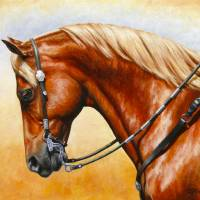 Sorrel Western Pleasure Quarter Horse Art Prints & Posters by Crista Forest