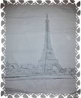 Eiffel Tower Drawing Ivy