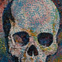 Pointillism Skull Art Prints & Posters by Michael Creese
